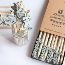 Lápices personalizados con nombres de madera