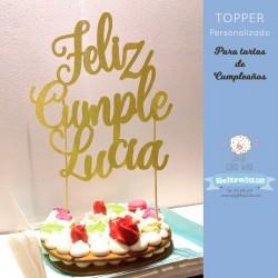 Topper para tartas de Cumpleaños